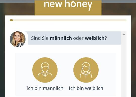 New Honey Registrierung